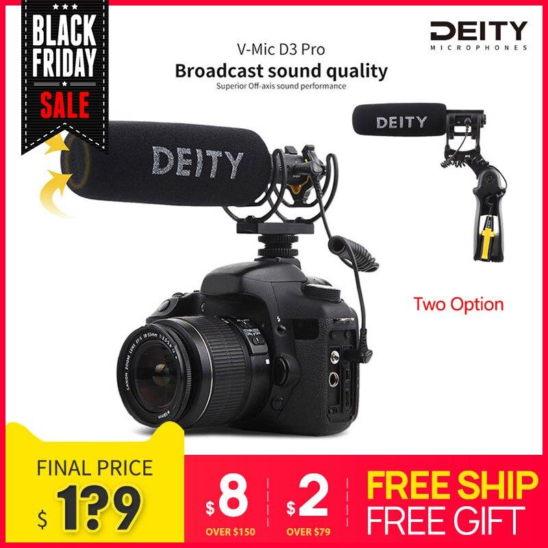 Deity v-mic D3 Pro vídeo estudio micrófono Super-cardioide Polar patrón Vlogging condensador grabación Microfone para DSLR