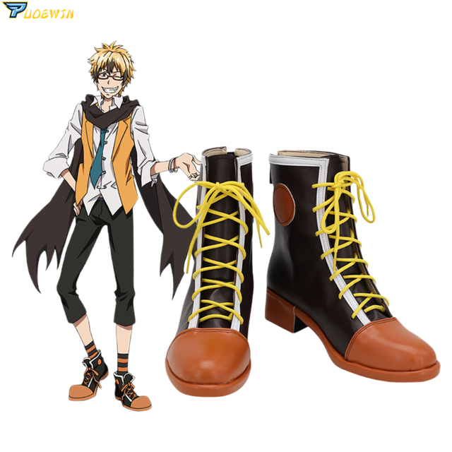 Anime Servamp Orange Cosplay Shoes Boots