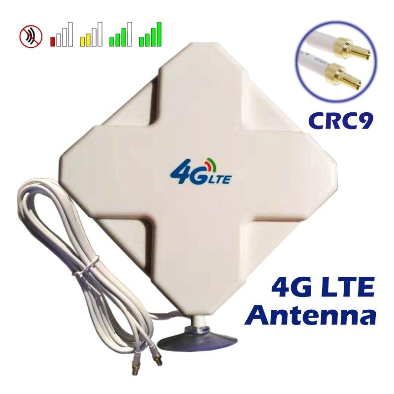 4G LTE Антенна CRC9 с высоким коэффициентом усиления 35dBi MIMO двойная головка с присоской для усилителя сигнала маршрутизатора Netgear