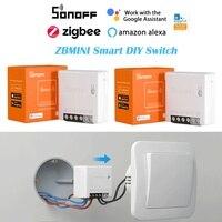1-40PCS SONOFF ZBMINI ZigBee Smart DIY Schalter 2-Weg Timer Home Automation Unterstützung eWelink Alexa Google hause ZBBridge Erforderlich