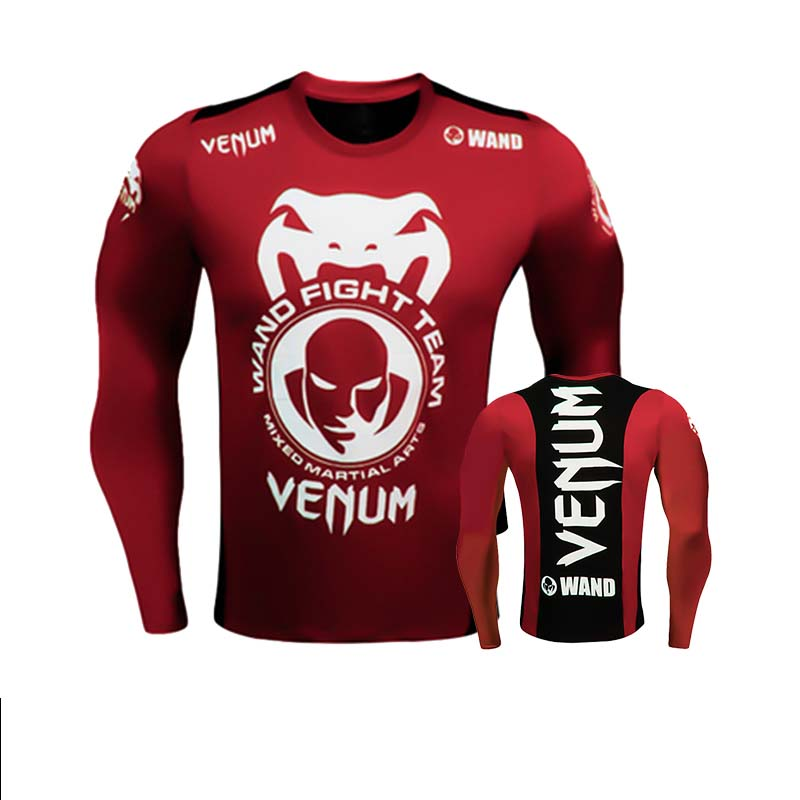 Rashagurd Bjj MMA Sportsuit MMA Clothing T-shirts Long Sleeve Muay Thai Boxing Jerseys Fight Compression Sport Gym Clothes
