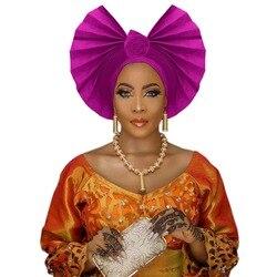Women headwrap african headtie Ankara aso oke gele nigerian turban traditional headwear headband