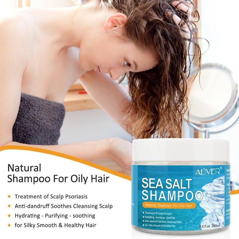 Anti-Dandruff Sea Salt Shampoo Control Oil Relieve Itching Anti-Mite Reducing Dandruff Hair Shampoos Hair Care 2020 S1