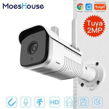 Tuya Smart Outdoor IP65 Waterproof WiFi  Two-Way Audio Camera HD 1080P Network Night Vision IP Camera hiseeu robot camera wifi 960p 1 3mp hd wireless ip camera wi fi night vision camera ip network camera cctv support two way audio