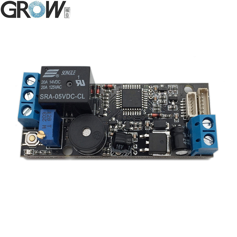 GROW K202+R502-A DC12V Low Power Consumption Fingerprint Access Control Board+R502-A Small Ring LED  Fingerprint Module