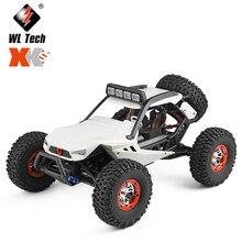 Wltoys novo 12429 1:12 4wd rc carro 2.4g rádio offroad rc carros de controle remoto elétrico carro brinquedos com luzes led para crianças adultos