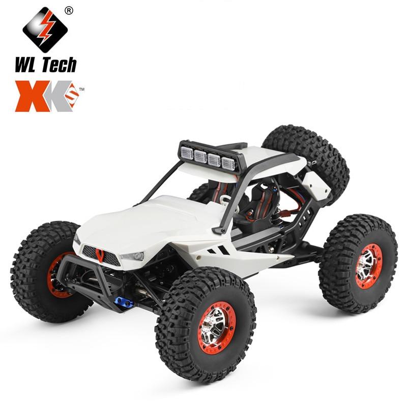Wltoys novo 12429 1:12 4wd rc carro 2.4g rádio offroad rc carros de controle remoto elétrico carro brinquedos com luzes led para crianças adultos|Carros RC|   -