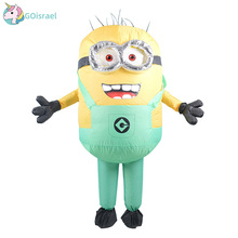 Men Women Inflatable Minion Costume Halloween Party Costumes Despicable Me Mascot Costume Minion Cosplay Clothing for Carnival despicable me minion slipper little kid big kid