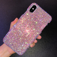 Luxury Handmade Bling Full Rhinestone Diamond Crystal Case For Apple iPhone 11 Pro X Xs XS MAX XR 7 8 Plus Customized Case Cover