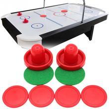 Воздушный Хоккей Аксессуары 76 мм клюшки и 51 мм Хоккейная Шайба войлочный молоток толкача взрослые настольные игры развлекательные игрушки
