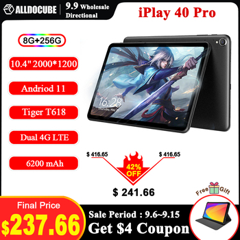 [Newest]ALLDOCUBE iPlay 40 Pro 10.4'' Tablet Android 11 2K 2000x1200 FHD 8GB RAM 256GB ROM UNISOC T618 OctaCore 4G LTE Dual Wifi 1