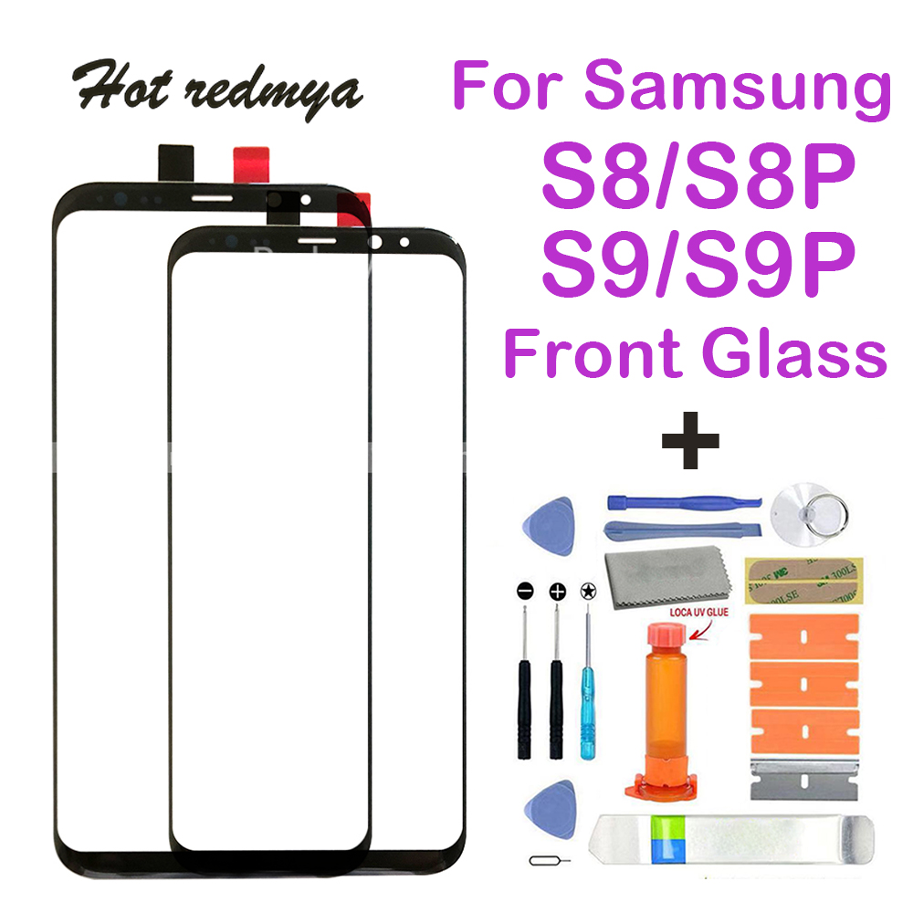 S8 Front Glass Replacement For Samsung Galaxy S8 Plus Screen Repair Front Outer Glass Lens For Galaxy S9 Plus+Tool