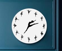 Hot Selling Boutique Acrylic Mirror Wall Stickers Living Room Bedroom DIY Ballet Womens Clock 30