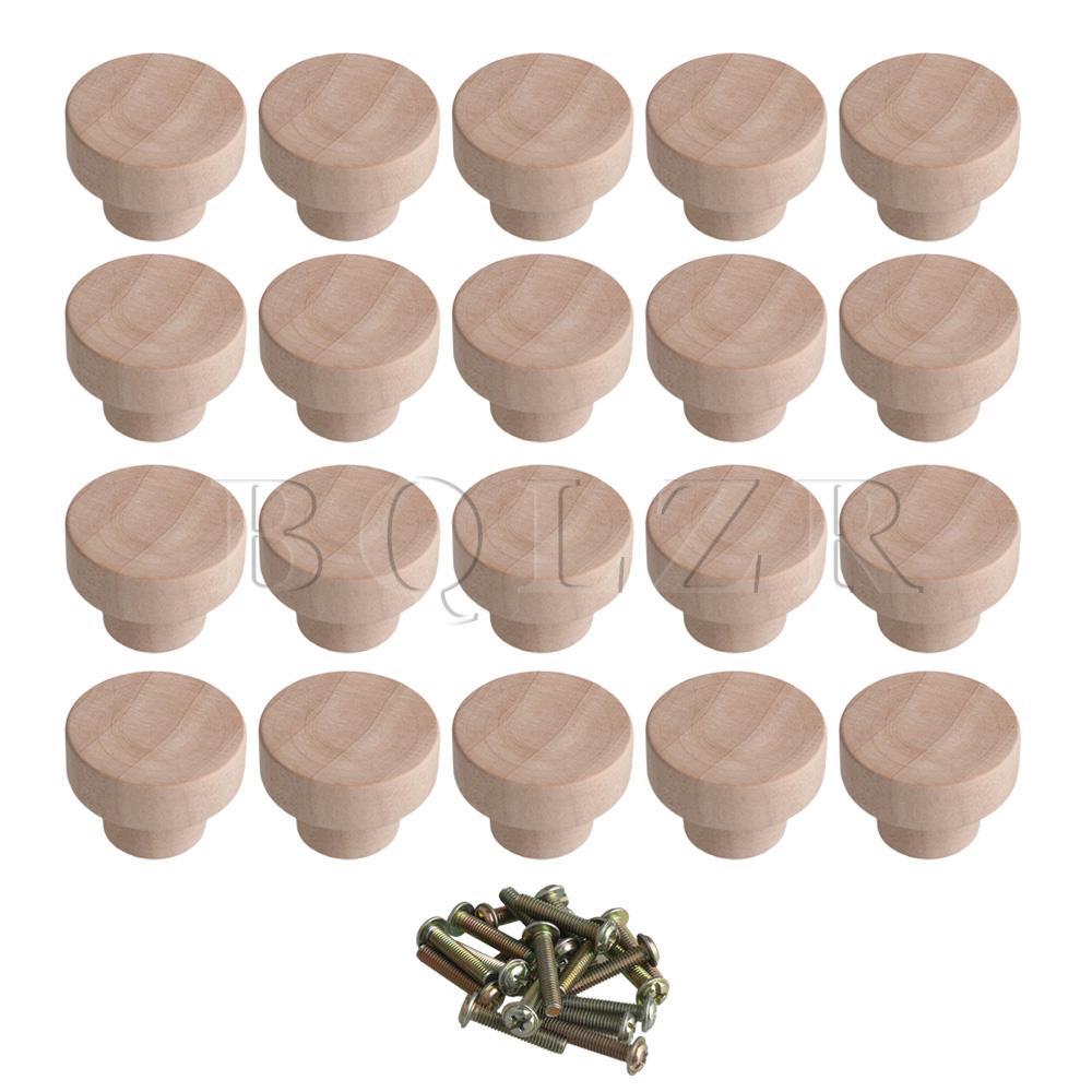 Bqlzr acessório para casa 35x25mm cor de madeira superba ferragem de madeira redonda puxa botões para armário gaveta armário armário
