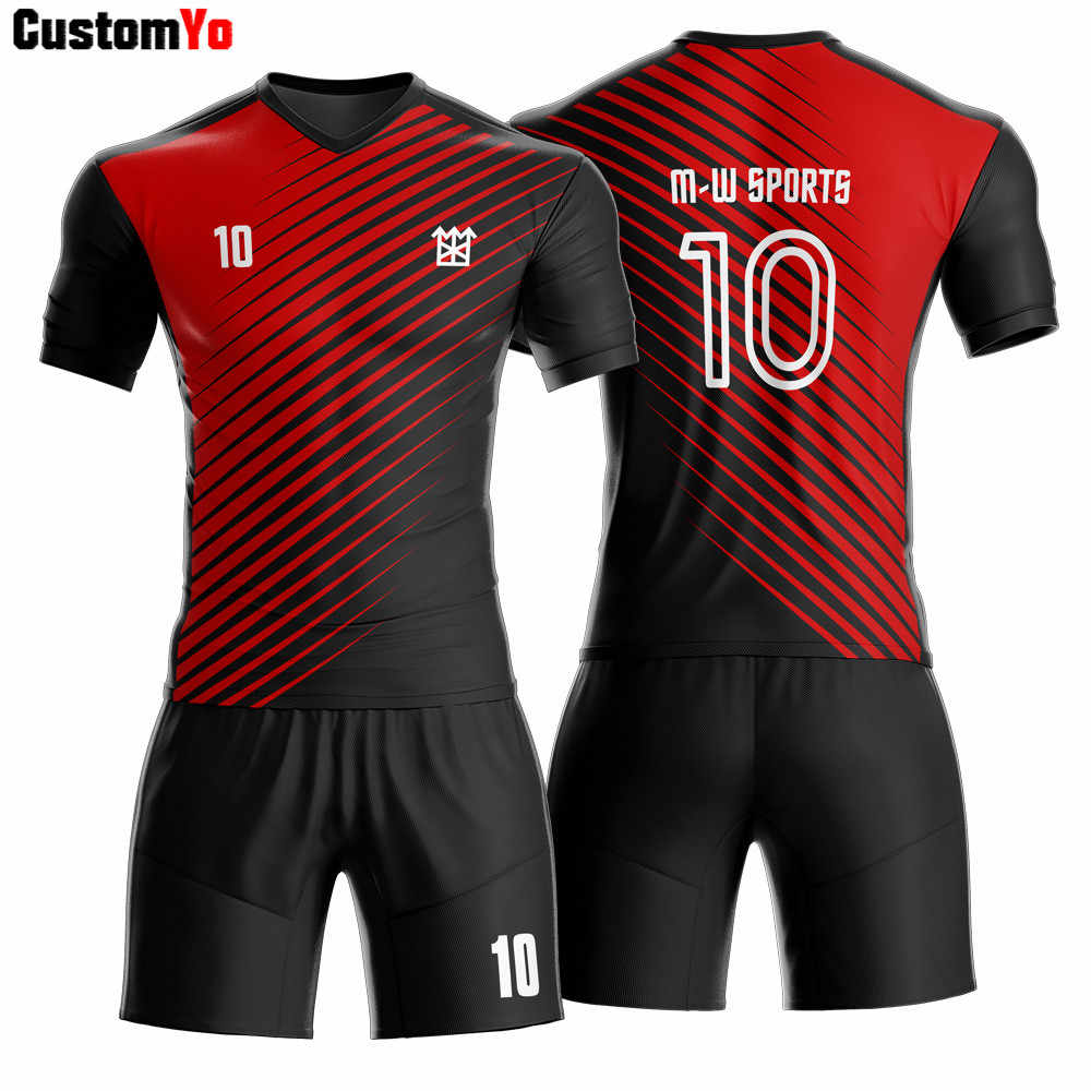 Best selling retail high quality quick dry men soccer jersey