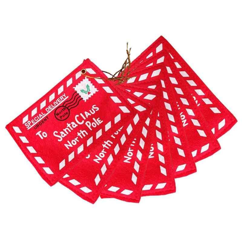 לא ארוג חג המולד מעטפת תליון מתנת סוכריות שקיות עץ מסיבת לתלות דקור Creative חג המולד כרטיס פסטיבל הנצחה