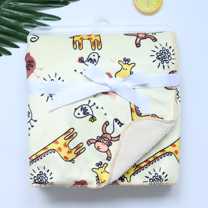 Baby Blankets New Thicken Double Layer Coral Fleece Infant Swaddle Bebe Envelope Wrap Owl Printed Newborn Baby Bedding Blanket   Happy Baby Mama