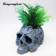 Cranio vaso di fiori stampo in silicone di cottura della muffa della candela della resina di cioccolato muffa della caramella stampo in gesso di trasporto libero