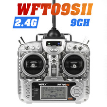 RC Transmitter Original WFLY WFT09S Channel 2.4GHz Remote Controller plus WFR09 Receiver For Rc Airplane boat freeshipping 3pcs lot cy300 3 channel gun controller transmitter