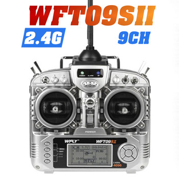 цена на RC Transmitter Original WFLY WFT09S Channel 2.4GHz Remote Controller plus WFR09 Receiver For Rc Airplane boat