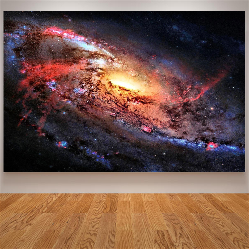 Milky Galaxy Painting Nebula Poster Canvas Print Modern Wall Art Universal Wall Pictures For Living Room Home Decoration Star
