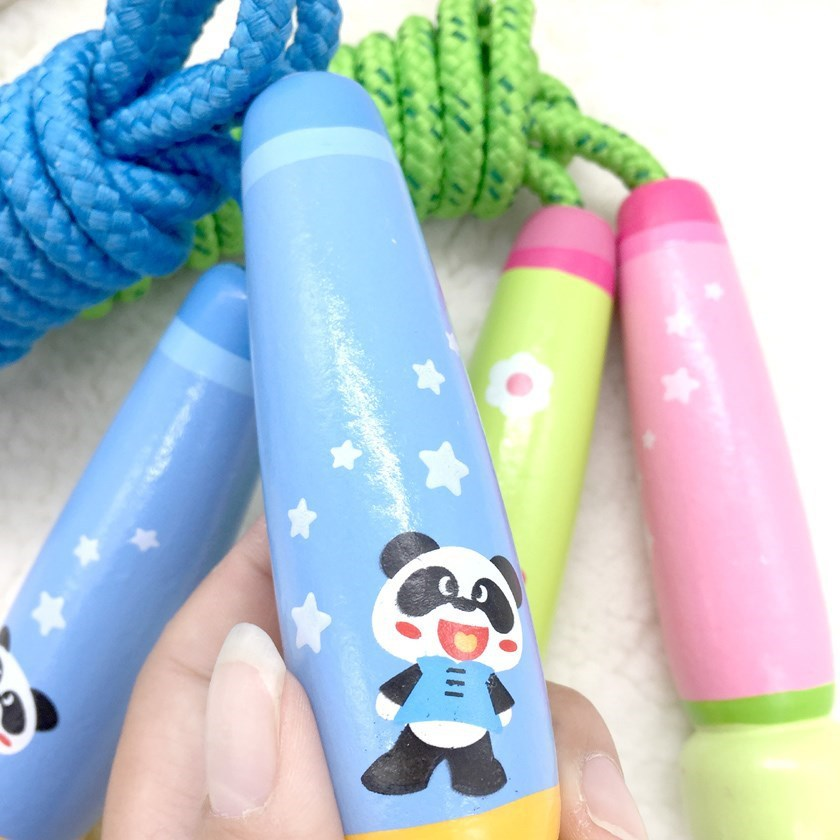 Sports Young STUDENT'S-Game Tiaoshen Parent And Child Children Regulation Rope Kids Wooden Toys.