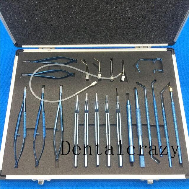 Titanium 21pcs Cataract set Intraocular Set Ophthalmic Surgical Instrument