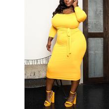 Plus Size Dress for Women 4XL 5XL Yellow