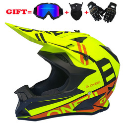 New type cross country helmet motorcycle helmet mountain cross country helmet goggle mask gloves three piece set for riding