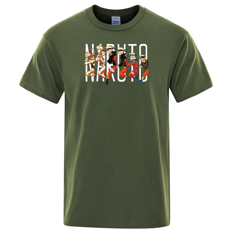 2019 Summer Cotton Cool Male Tshirt Japanese Anime T-Shirt Men T Shirts Naruto Harajuku Tops Fashion Hip Hop Mens Tee shir