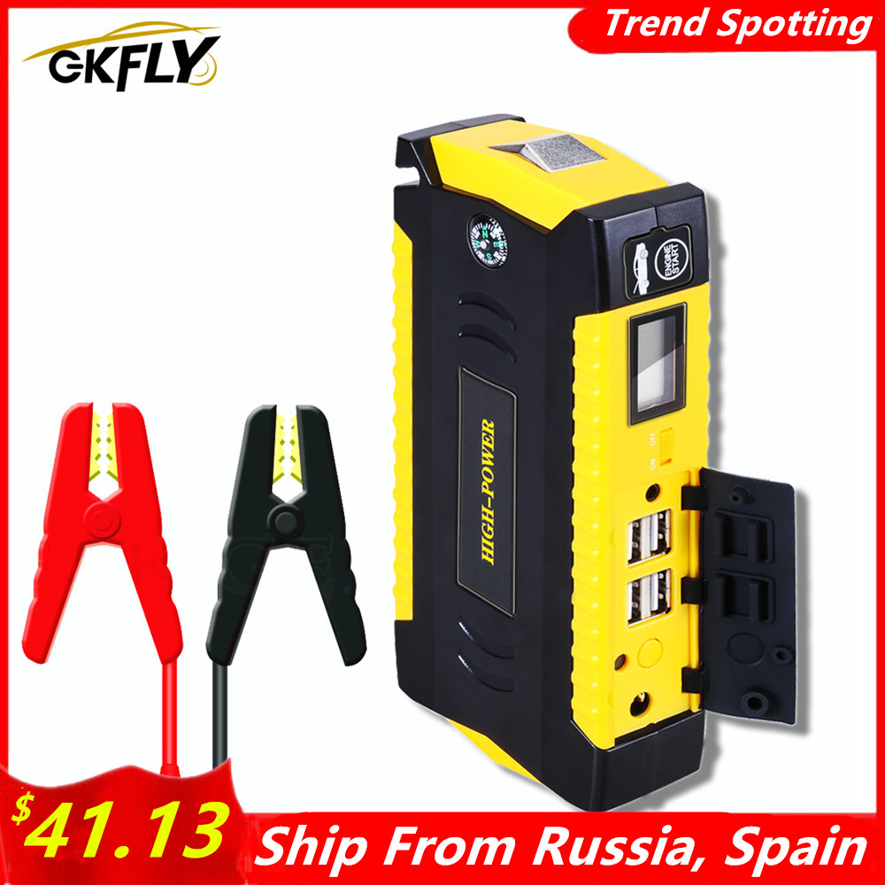 Пусковое устройство GKFLY для автомобиля, внешний аккумулятор, портативный бустер для автомобильного аккумулятора, зарядное устройство 12 В, п...