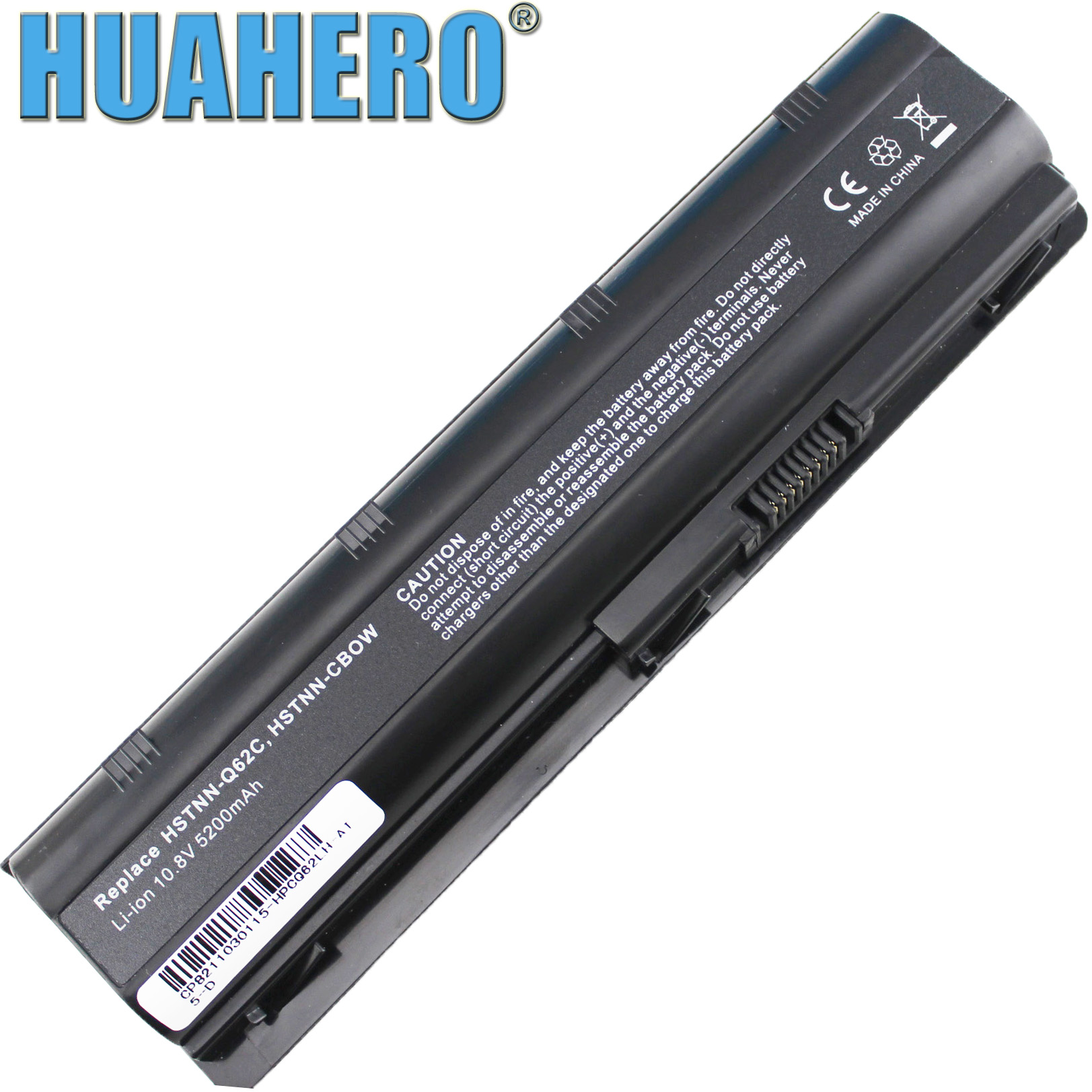 Аккумулятор HUAHERO MU06 593553-001 для ноутбука HP 2000-425NR CQ32 CQ42 CQ56 CQ62 CQ72 G32 G42 G56 G62 DM4 G72 CQ43 MU09 593554-001
