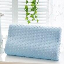 Домашняя простая подушка из пены с эффектом памяти, розовый, синий, белый, медленный отскок, подушка из пены с эффектом памяти, забота о шее, подушки для сна, 3 цвета N