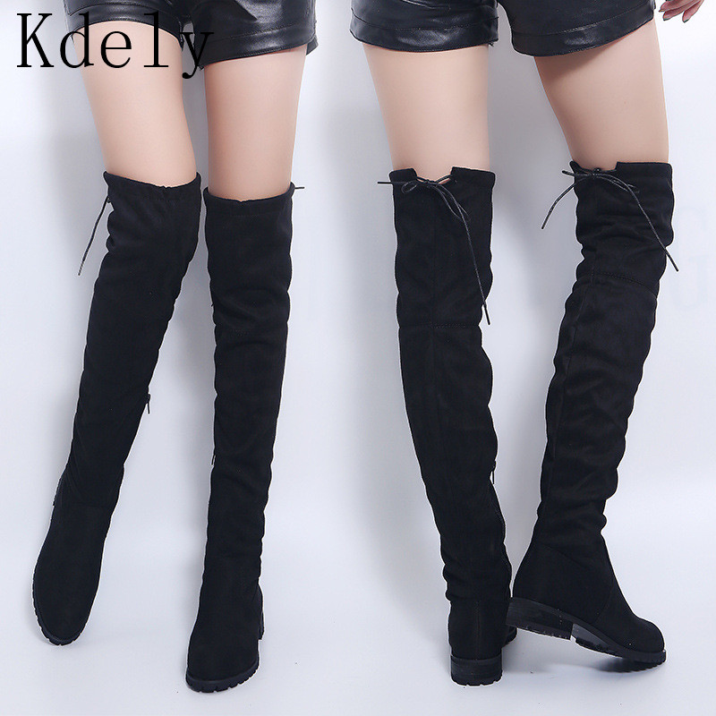 Over The Knee Boots Women Boots Sexy Female Winter Shoes Women Suede Long Boots Ladies Thigh High Boots Bota Women Botas Mujer