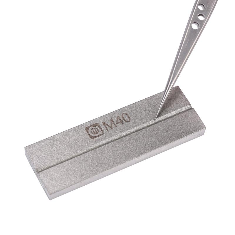 Multi-function Grindstone Tweezers Corrector Repair Tools For Tweezer Soldering Iron Tips Knife Pointed Head Correction