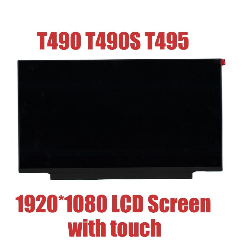 "14.0 ""TELA DO LAPTOP LCD para lenovo T490 40PIN T490S T495 01YN150 5D10W35448 5D10W46485 5D10V82372 B140HAN03.2 com Toque"