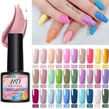 MAD DOLL 8ml Color Nail Gel Polish Spring Series Gel Polish Soak Off LED UV Gel Polish Nail UV Gel Nail Art DIY Design Varnish