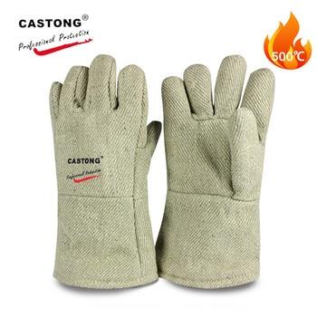 500 Degree + High temperature Gloves Para-aramid Anti-scald Safety Gloves 34cm High Temperature Resistant Gloves