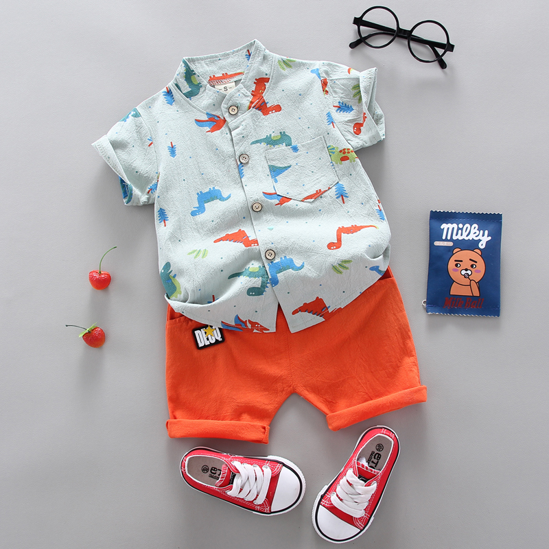 summer Children's suit  Clothes Sets Boys and girls Short sleeve shirt and Pants 2 pieces Clothing sets children's clothing Baby 1