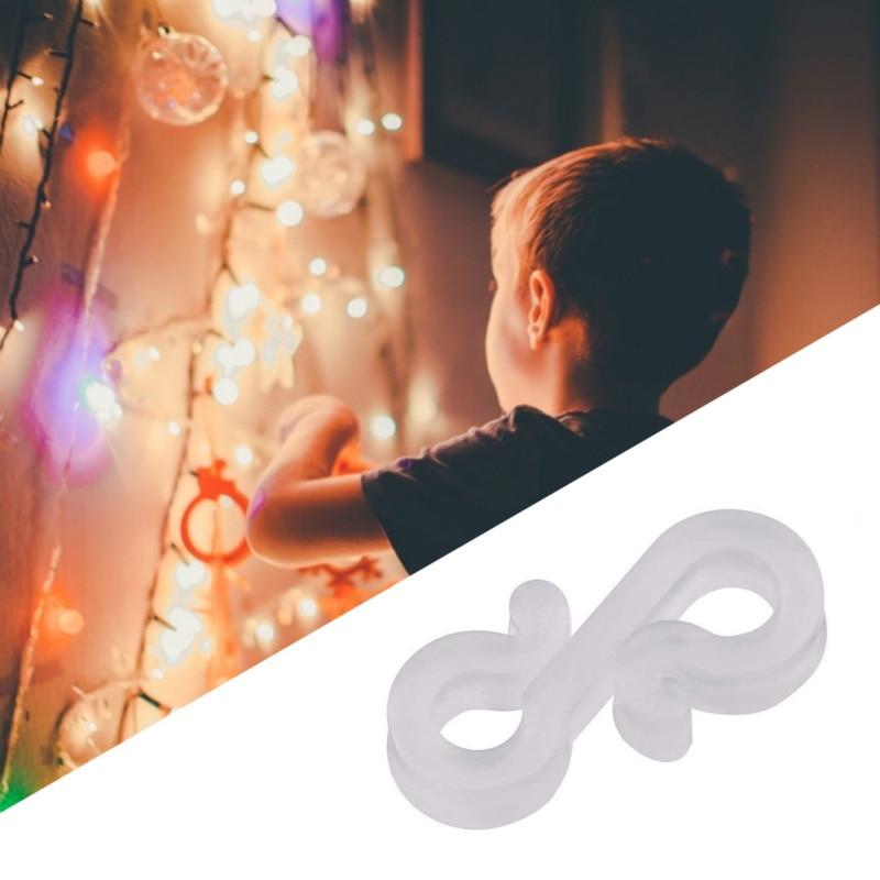 200 Pack Gutter Clips Hooks for Christmas Fairy Lights