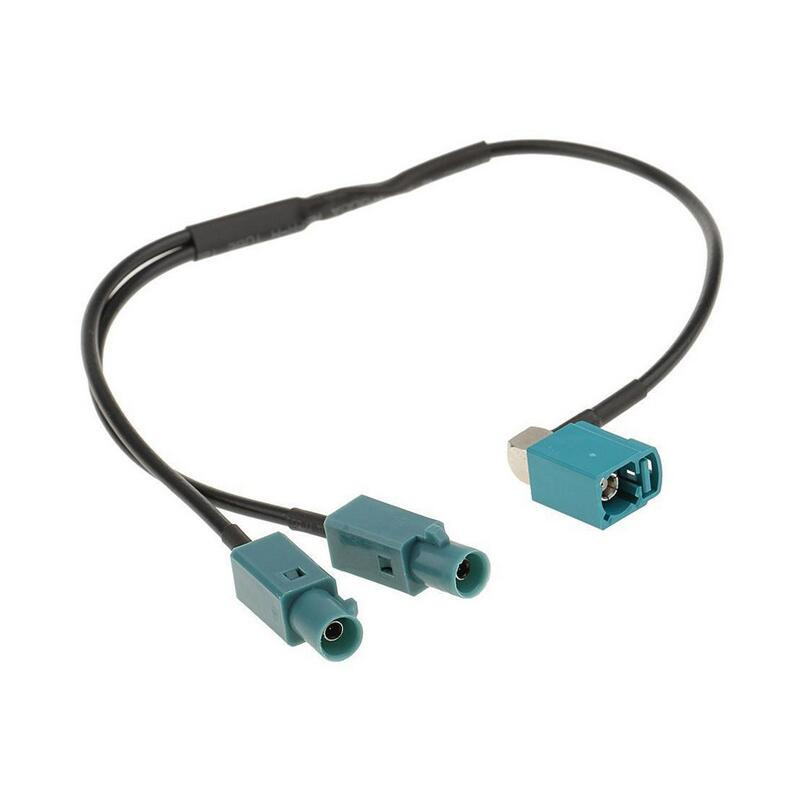 One Fakra Female To Two Fakra Male Conversion Cable Radio Antenna Amplifier Adapter Connector Universal