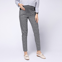 Maternity Lattice Pant Maternity Business Wear Pregnancy Pants Cropped Trousers for Pregnant Women Pregnancy Pants for Work
