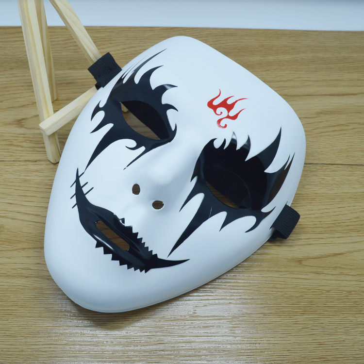 Hip Hop Mask White Mask Painted Mask Love Funny Horror Halloween