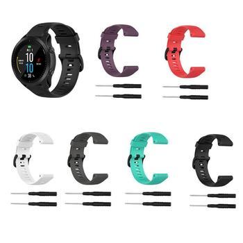 22mm silicona reemplazo correa de hebilla de correa de reloj de pulsera de la muñeca para Garmin Fenix 6 5 Plus 5 Forerunner 945 de 935