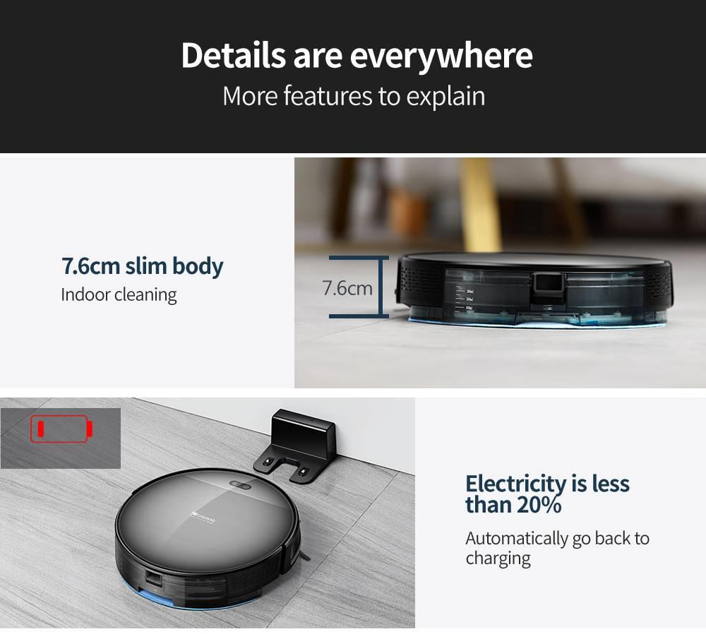 H3bbc4238d69a4a729e62d7ddf51b58f6e Proscenic 800T Robot Vacuum Cleaner Automatic Sweeping Dust Mopping Mobile App Remote Control Planned Robotic