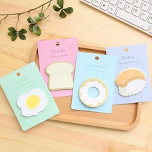 Note-Book Adhesive-Notes Lovely Post Four-Selections Kawaii 1pack/Lot Bread-Sushi-N-Times