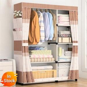 Delivery normal DIY Non-woven fold Portable Storage furniture When the quarter wardrobe Cabinet bedroom furniture wardrobe(China)