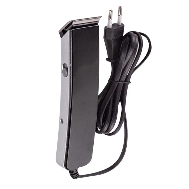 Hair Clipper Plug-In Electric Push-Clipper Hairdresser Household Mini Hairdresser Shaver Beard Cutting Machin EU Plug(Black)