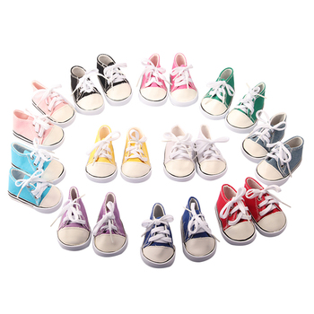 18 #8221 akcesoria dla lalek modne buty dla lalki skarpetki dla 43 Cm nowe lalki dla dzieci urodzone białe różowe trampki sznurowane płótno Mini buty tanie i dobre opinie DOLL TALK Tkaniny CN (pochodzenie) SH-0073 Dziewczyny Moda For 43cm Dolls Far away the fire