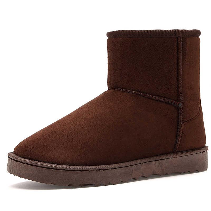 Super Warm Schnee Stiefel Männer Luxus Marke Mode Paar Unisex Winter Stiefel Für Männer Casual Schuhe Stiefeletten Liebhaber Bot PUTILER